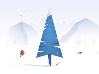 Christmas Time vector design illustration flat minimal