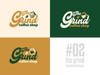 The Grind Coffee Shop Logo