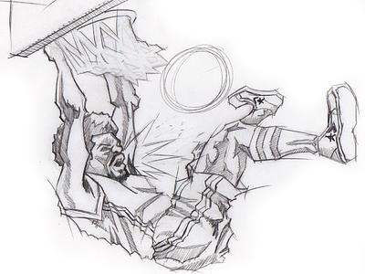 Yo! Dr.J Illustration sketch 76ers drawing doctor j