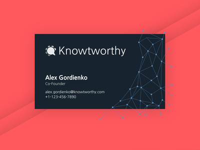 Knowtworthy Business Cards print colors businesscards dots clean flat design