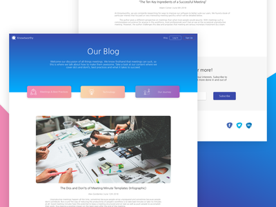 Knowtworthy Blog Concept responsive read minimal cards blog ux ui gradient web design colors flat design clean