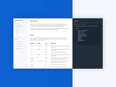 Clean Documentation Concept colors web design flat design clean ux ui api documentation
