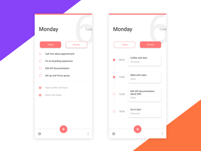 To-do List Concept android ios colors ux ui mobile minimalist material ui scheduler todo flat design clean