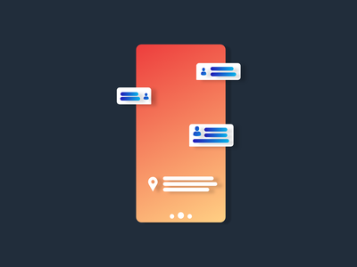 Mobile Concept | Messaging App adobexd design colors minimal mobile ux ui vector illustration gradient material clean