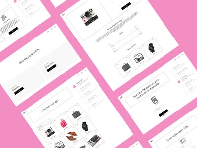 Premium Gifting Platform - Overview gifting ecommerce minimal ux ui web design flat design clean
