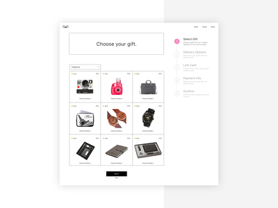 Choose Your Gift! - Ecommerce ecommerce shop gifting ecommerce landingpage minimal ux ui web design flat design clean