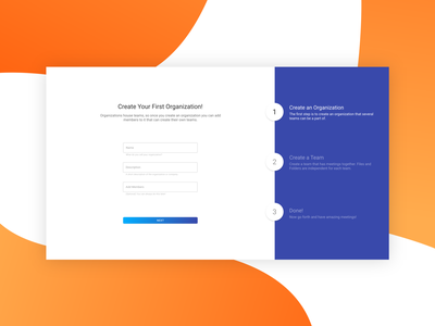 Knowtworthy Meetings Onboarding colors signup onboarding flat web design minimal ux ui gradient material design design clean