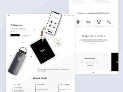 Gift Giving Platform Landing Page