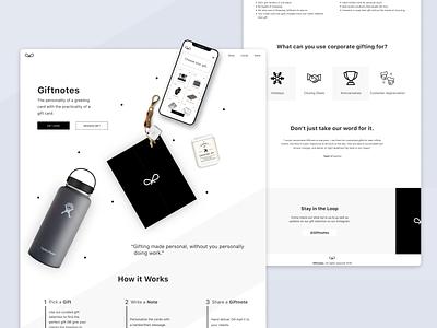Gift Giving Platform Landing Page web app ecommerce shopping gifts monochrome ui branding landingpage minimal flat web design design clean