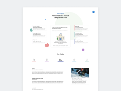 Club Fair Landing Page - Minimalist Focus
