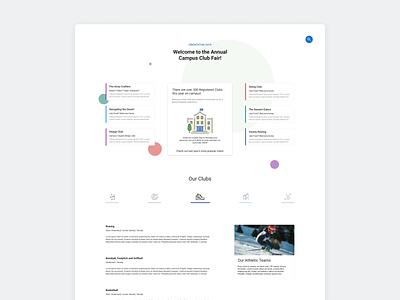Club Fair Landing Page - Minimalist Focus branding landingpage minimal ux ui colors web design flat design clean