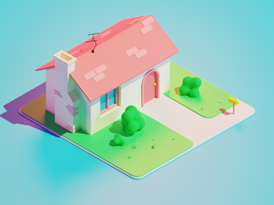 house house 3d clean blender