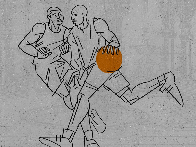 Basketball basketball illustration
