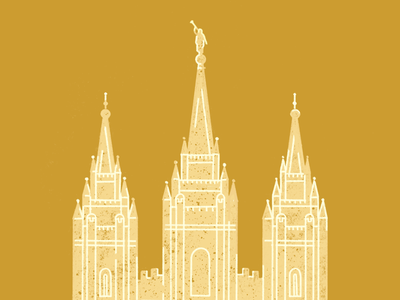 Salt Lake City Temple illustration