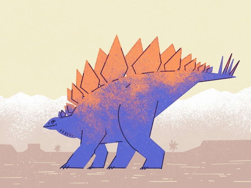 Stegosaurus illustration dinosaur
