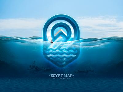 Egypt Mar - Branding 3d pyramids blue agency shapping graphic design branding logo