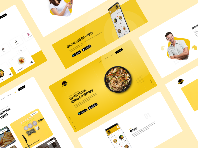 Food application website design