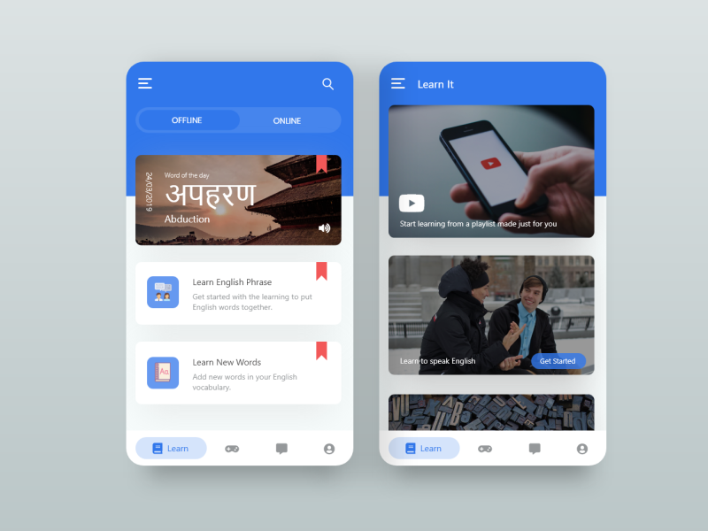 Nepali/English Translation and learning platform redesign
