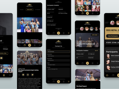 Miss Nepal App Screens