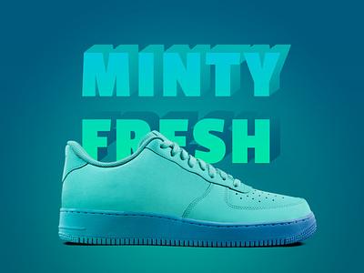 Minty Fresh branding logotype design lettering sneakers sports typography dpcreates