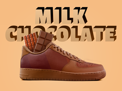 Milk Chocolate illustration design logotype lettering sports sneakers dpcreates typography