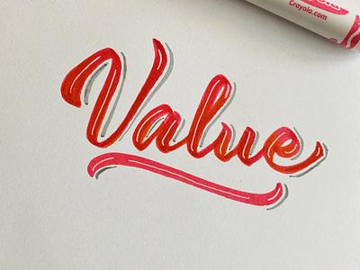 Value drawing logo design logotype lettering dpcreates typography
