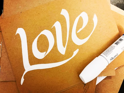 All We Need Is Love lettering love calligraphy artist calligraphy logo calligraphy logotype logo darold pinnock dpcreates typography