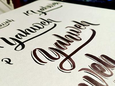 Yahweh calligraphy artist calligraphy logo calligraphy logo logotype lettering dpcreates darold pinnock typography