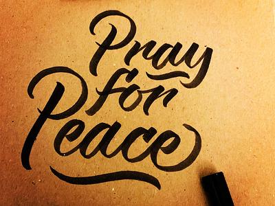 Pray for... calligraphy artist calligraphy logo calligraphy lettering logo logotype darold pinnock dpcreates typography