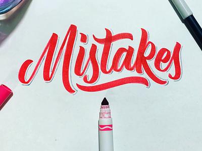Mistakes branding calligraphy artist calligraphy logotype logo pinnock lettering darold pinnock dpcreates typography