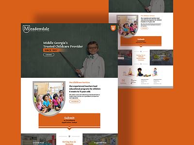 School Website xd design web design website ui design dpcreates darold pinnock