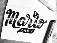 MarioKart Lettering