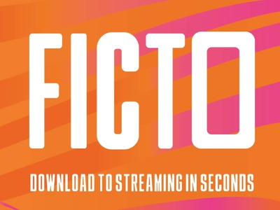 Ficto youtube banner vector letters stream app design art design