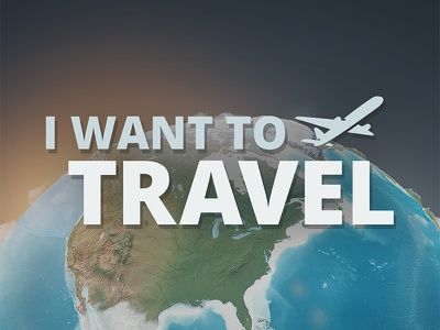 I want to travel travel logo airplane