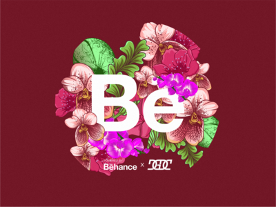 Behance Sticker Design - Red