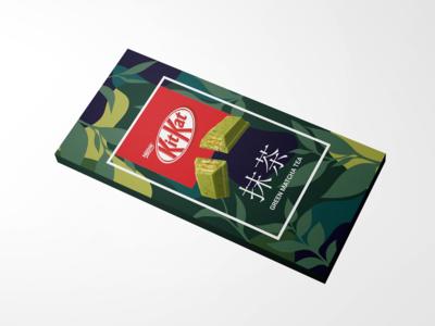 Matcha Kitkat Repackaging Concept Design