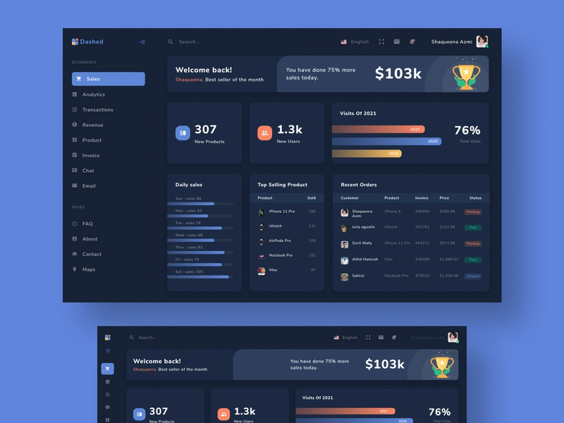 Dashed dashboard dark version figma branding dashboad landing page uiux web design web ux ui ui ux