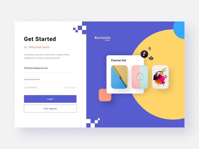 Login Screen Challenges login course figma uiux landing page web design web design ux ui ui ux