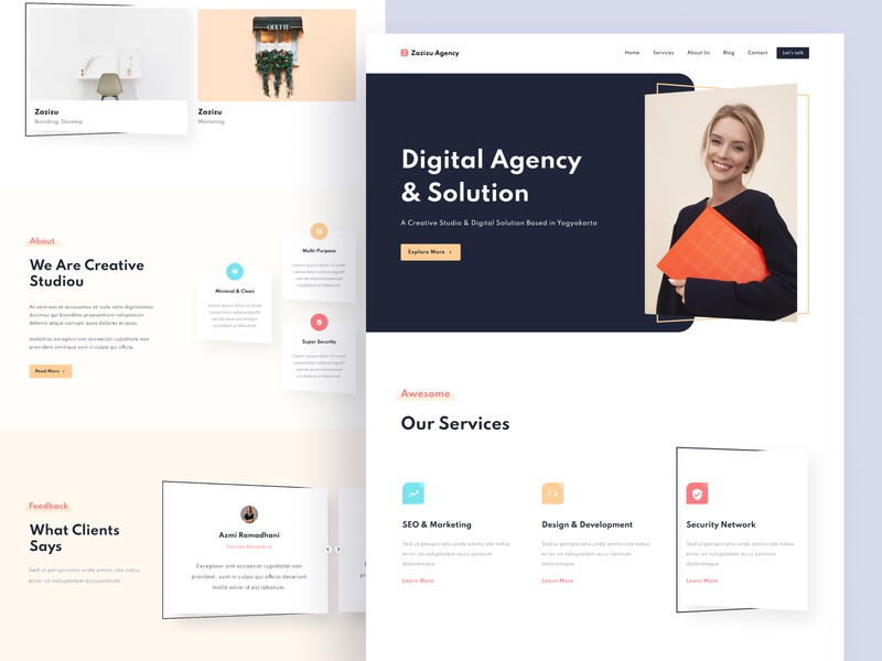 Creative Agency Landing Page figma exploration design web web design landing page uiux ui ux ui ux