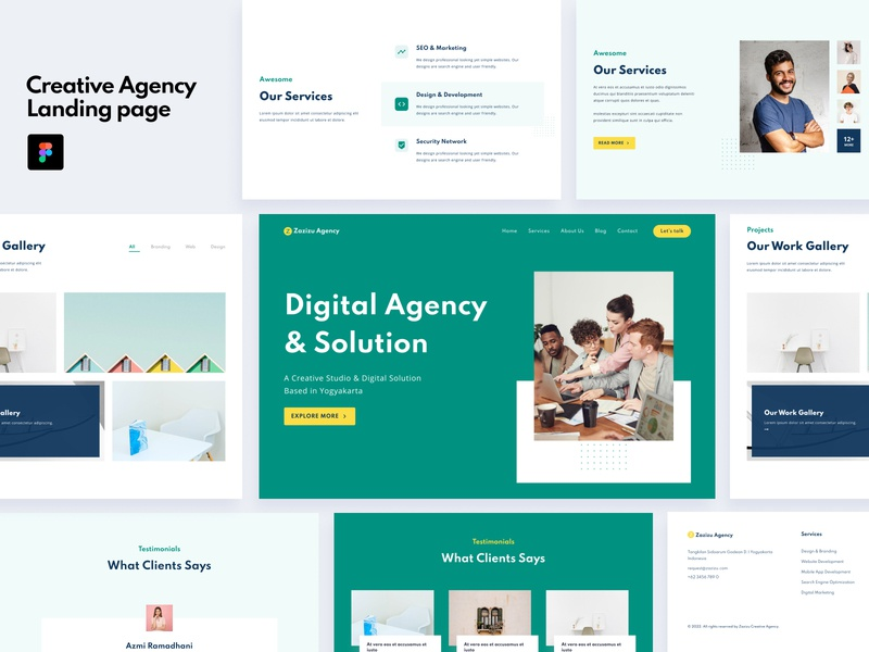 Creative Agency Landing Page agency creative business design dailyui figma web landing page web design uiux ux ui ui ux