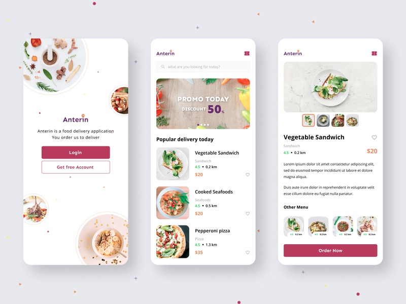 Food delivery app light version figma dailyui exploration app design ux ui uiux ui ux