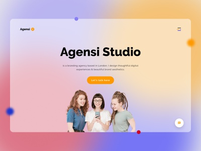 Agensi studio hero header dailyui exploration figma web design web landing page design ux ui uiux ui ux