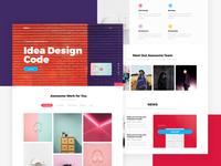 Ideco - Creative Portfolio Landing Page