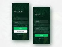 Login - Signup screen app design concept v3