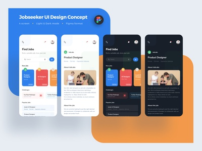 Jobseeker UI Design Mobile App Concept