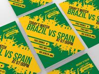Brazil World Cup Match Flyer