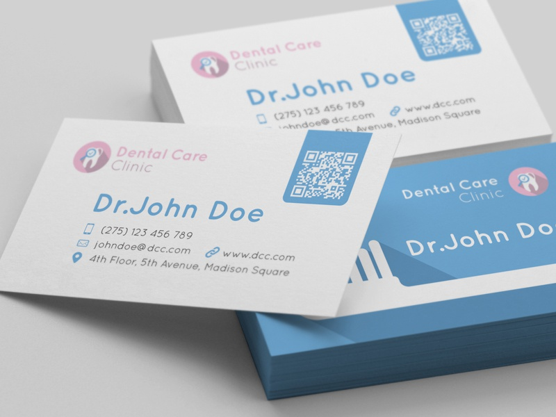 dentist business card by mohamed mounir fekri dribbble