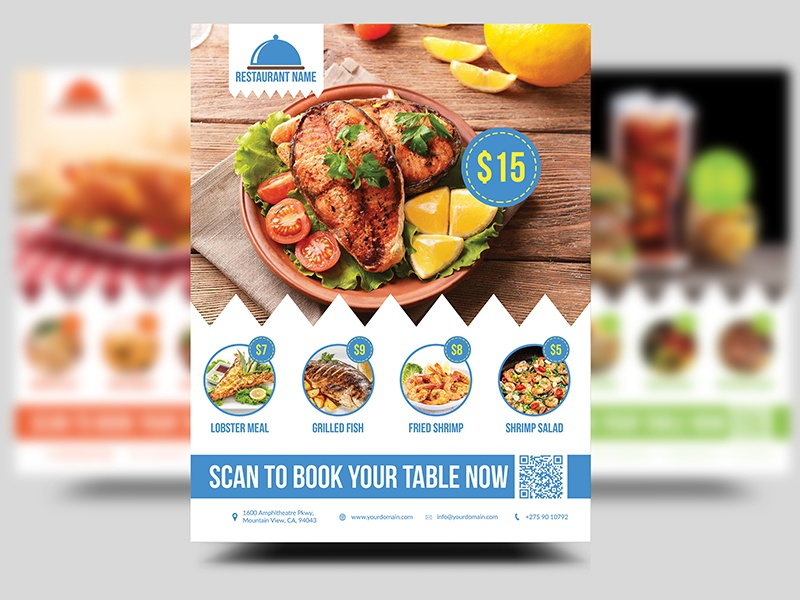 Restaurant Offer Flyer Template By Mohamed Mounir Fekri Dribbble