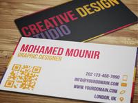 Creative Design Studio Business Card