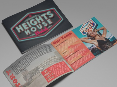 Brochure Design: Heights House Hotel, Houston, TX typeography design print vancouver island branding logo bc victoria graphic design malcontent creative brochure jesse ladret texas houston heights house hotel